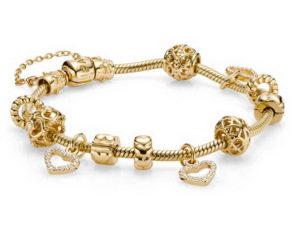 купить золотой браслет пандора